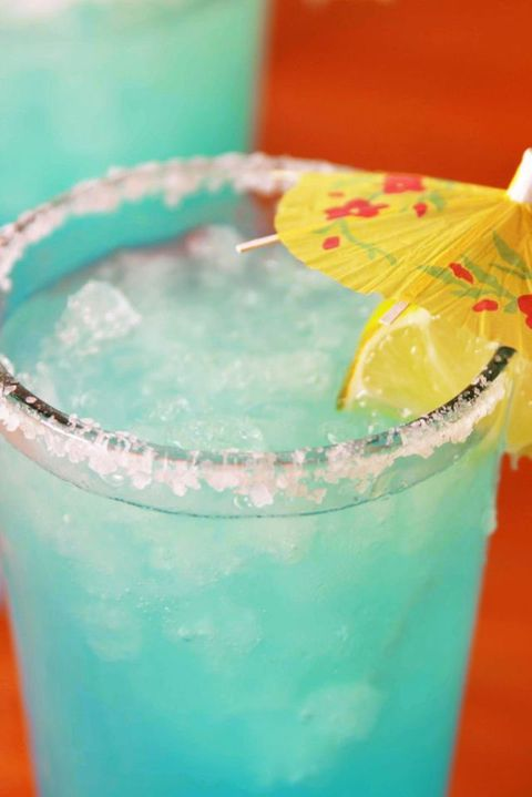 Drink, Non-alcoholic beverage, Blue hawaii, Blue lagoon, Italian soda, Hpnotiq, Punch, Distilled beverage, Lemonade, Cocktail,