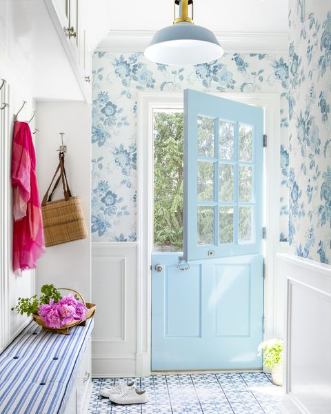 blue dutch door entryway design ideas
