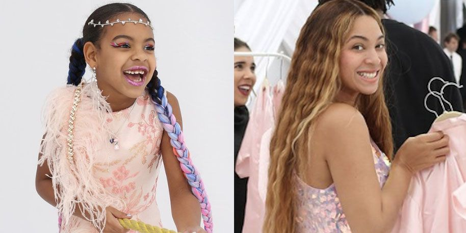 Beyoncé and Blue Ivy Adorably Twin in Previously Unseen Photos