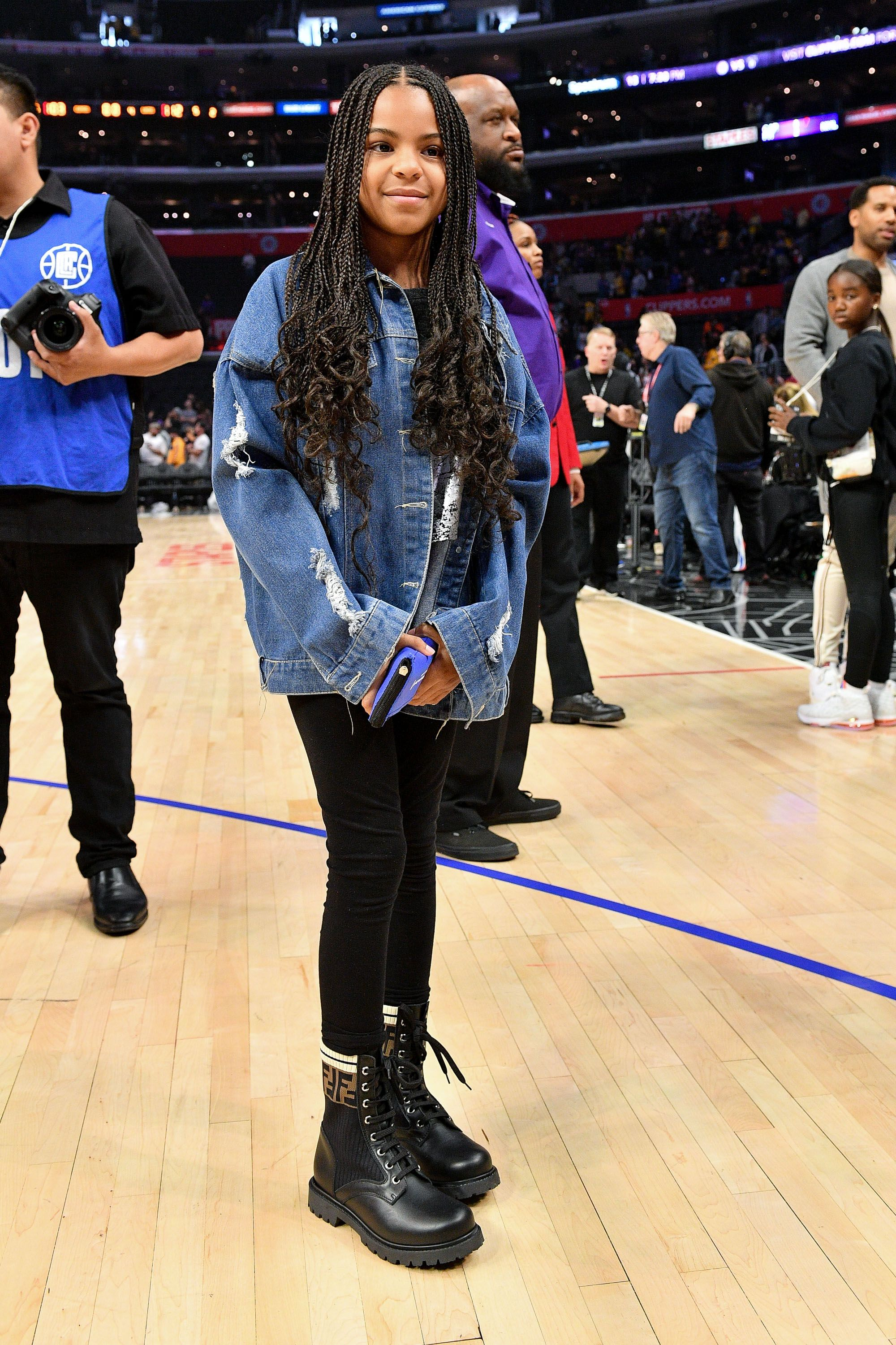 Blue Ivy Attends Lakers Vs Clippers Game With Father Jay Z