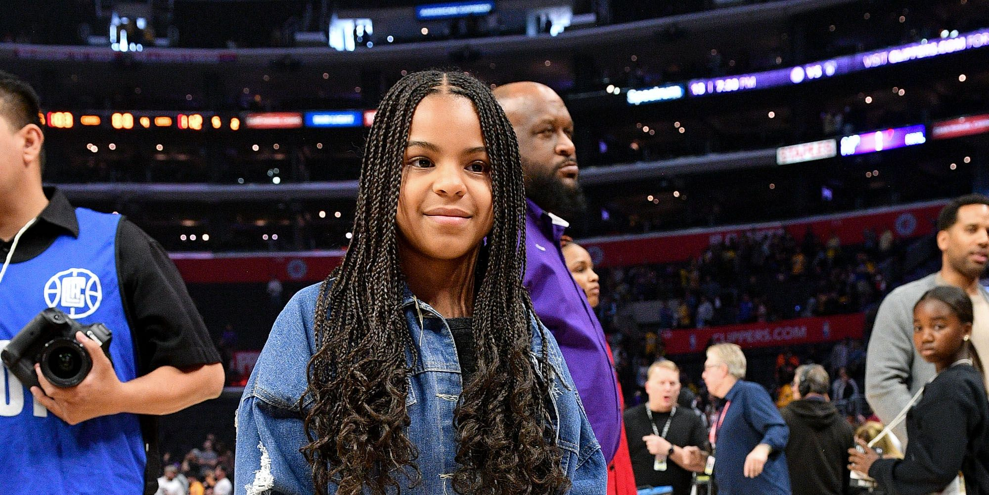 Blue Ivy Attends Lakers vs. Clippers Game with Father Jay-Z