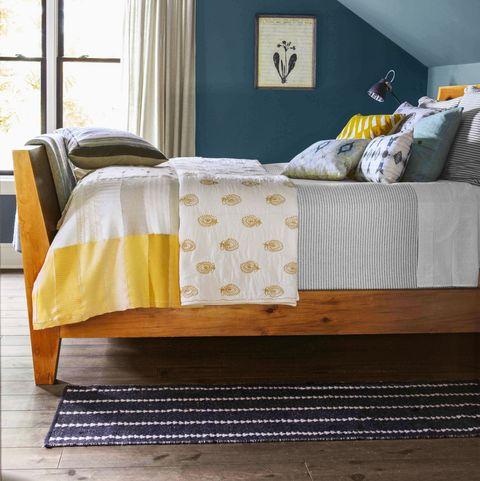 blue master bedroom