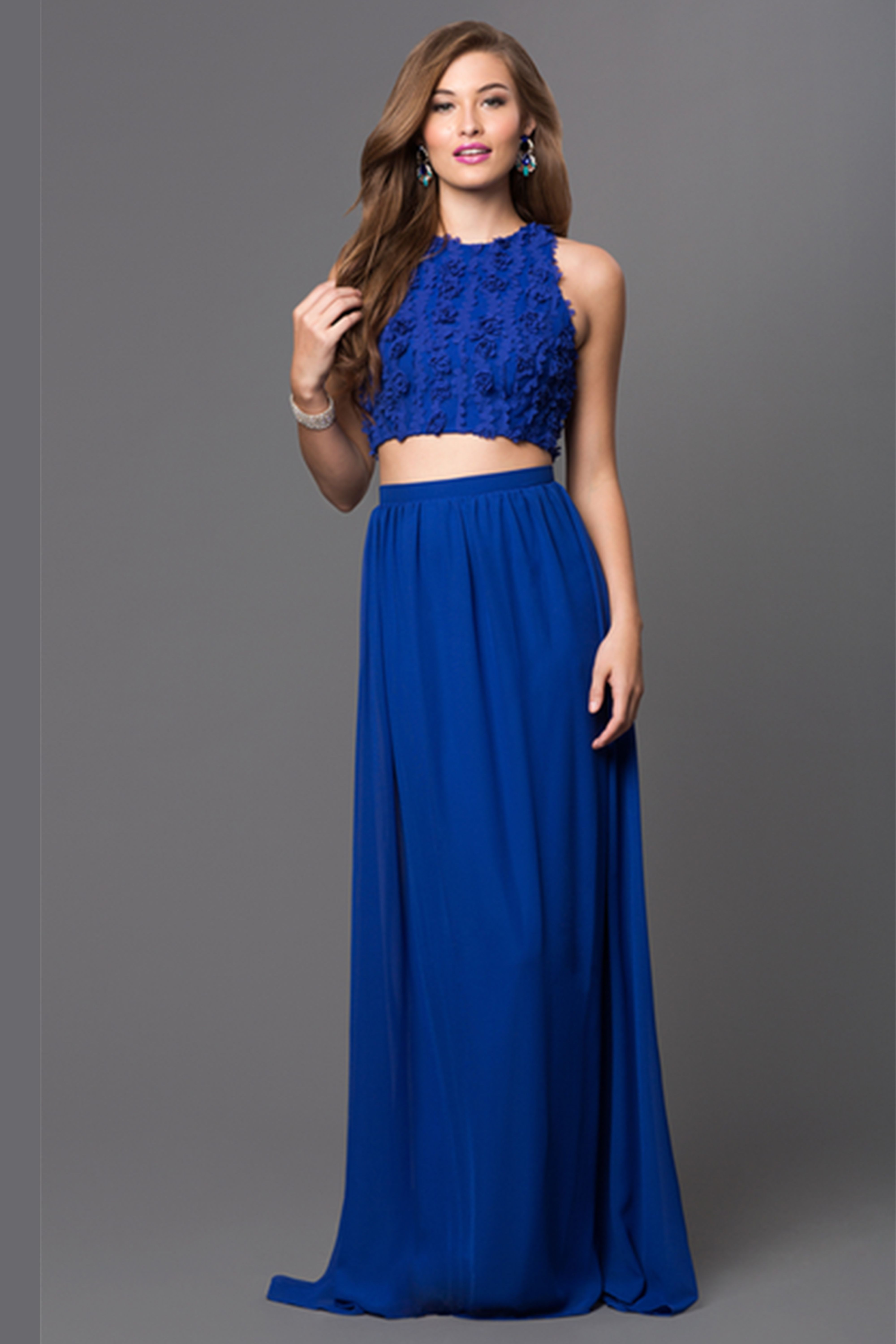 Electric Blue Prom Poofy Dresses