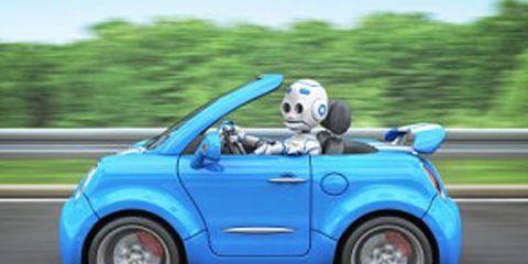 Blue Robot Car
