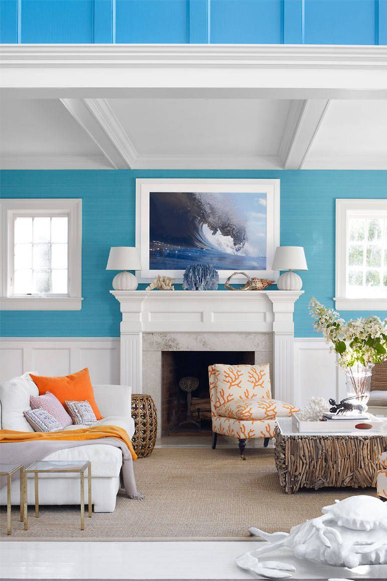 Elle Decor & 50 Blue Room Decorating Ideas - How to Use Blue Wall Paint \u0026 Decor