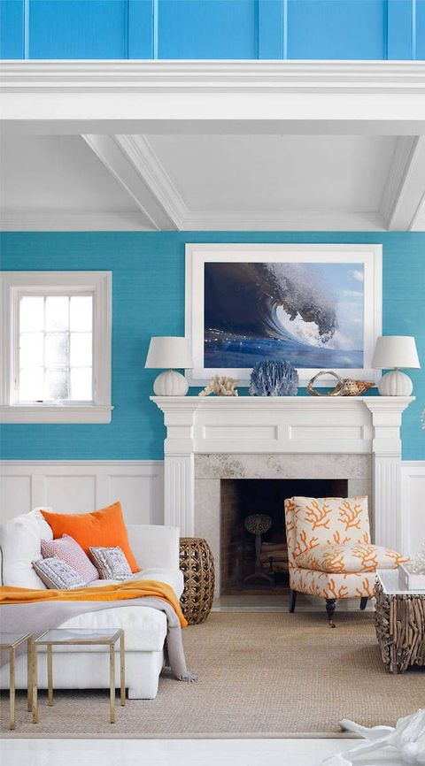 50 Blue Room Decorating Ideas - How to Use Blue Wall Paint ...