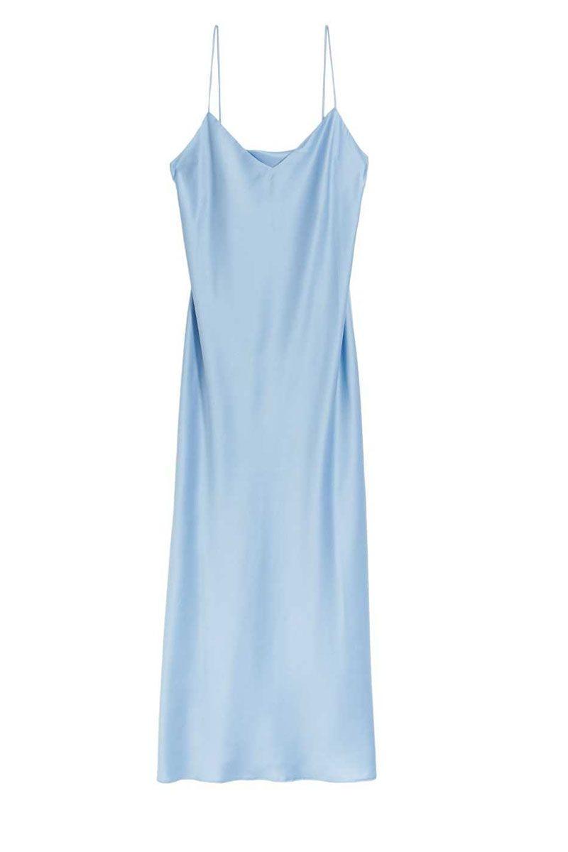blue sip dress - spring dress