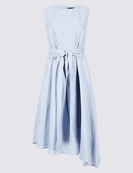 Clothing, Dress, Day dress, White, Blue, Cocktail dress, Bridal party dress, Sleeve, Neck, A-line,