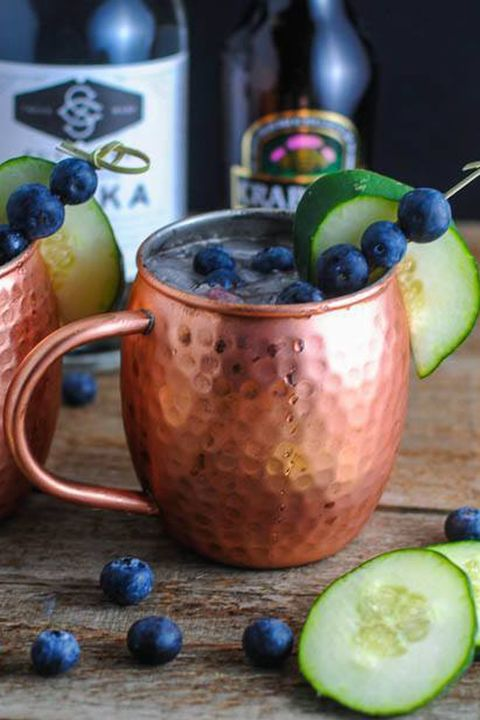Blueberry Cucumber Moscow Mule