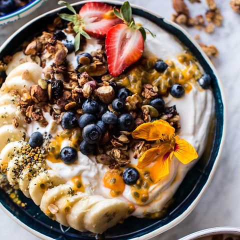 Blueberry Muffin Granola Greek Yogurt Bowl