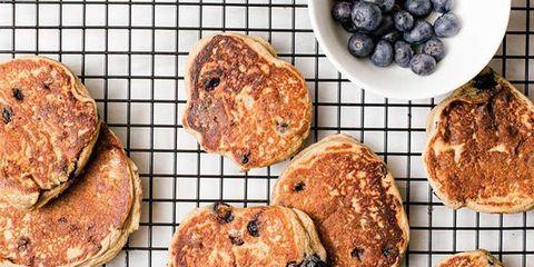 Blueberry Protein Freezer Pancakes