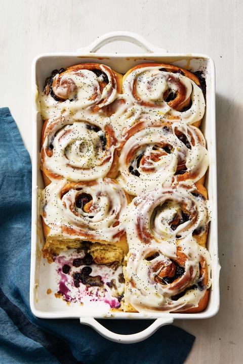 blueberry sweet roll breakfast