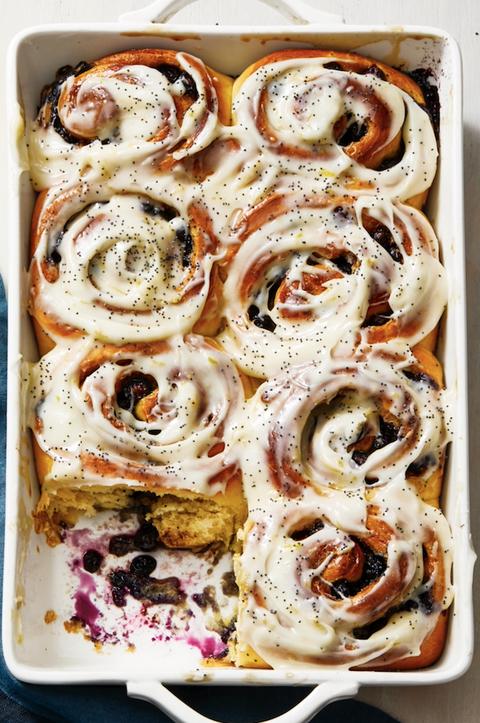 blueberry sweet rolls with lemon recipe