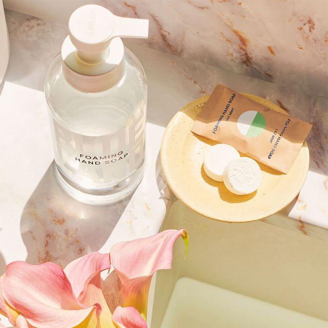blueland bergamot rose, satsuma mandarin, and lily mint garden hand soap