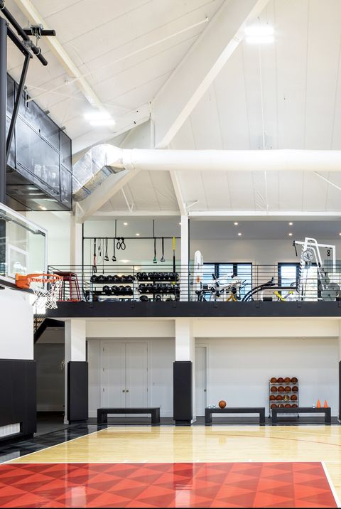 Inside A House With A Full Size Basketball Court Inside Dale Blumberg Design