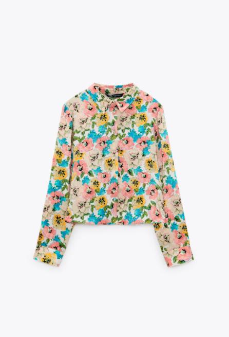katie holmes blusa flores