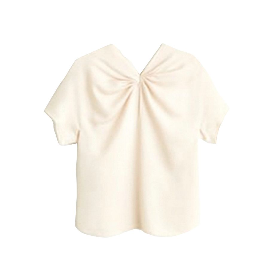 Blusa blanca de Mango, 29,99 €.