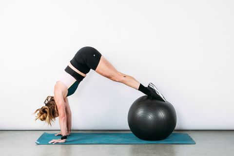 6 Abs Exercises You Can Do At Home With Just an Exercise Ball