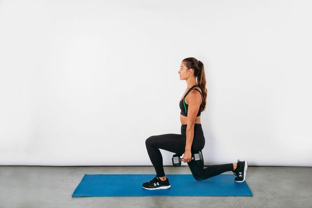 short workouts, lunge