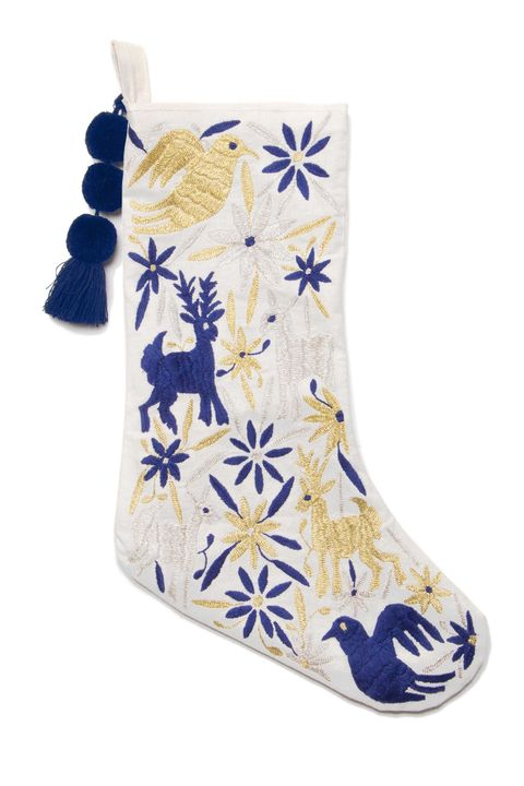 White, Blue, Footwear, Christmas stocking, Product, Shoe, Christmas decoration, Blue and white porcelain, Boot, Interior design,