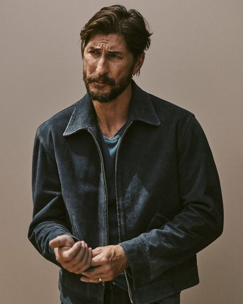 full grain suede rider jacket
