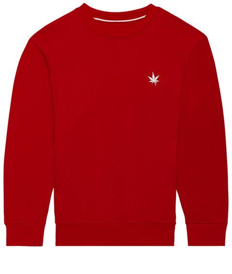 Clothing, Long-sleeved t-shirt, Sleeve, Sweater, Red, Sweatshirt, T-shirt, Top, Outerwear, Active shirt,