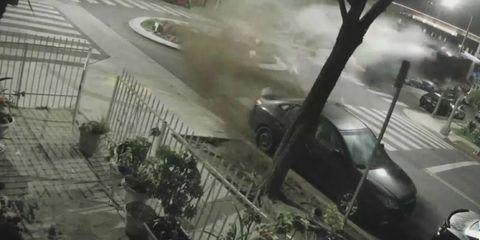 BMW M4 salto accidente