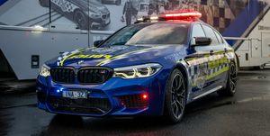 BMW M5 Competition Victoria Police Australia frontal