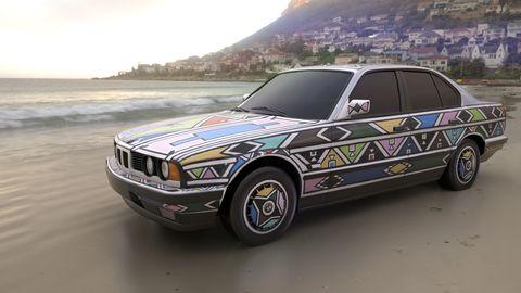 esther mahlangu's bwm art car