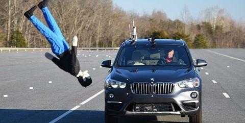 BMW X1 IIHS pedestrian test