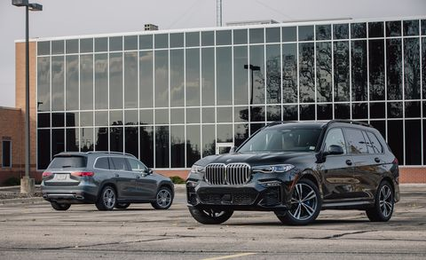 Mercedes GLS450 and BMW X7 xDrive