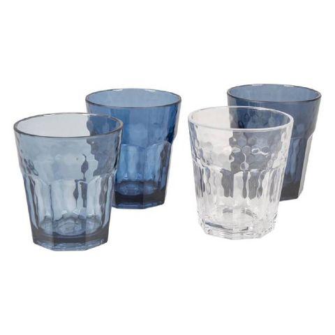 bocamp limonade glas  mix  match  4 stuks  200 ml  blauw