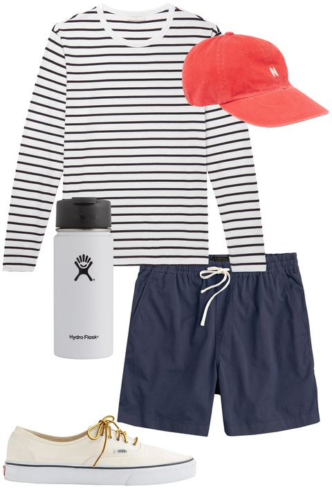 Clothing, White, Shorts, Product, Bermuda shorts, Sleeve, T-shirt, Trunks, board short, Footwear,