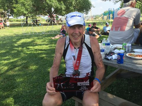 How This 87-Year-Old Triathlete Trains to Keep Crushing His Races