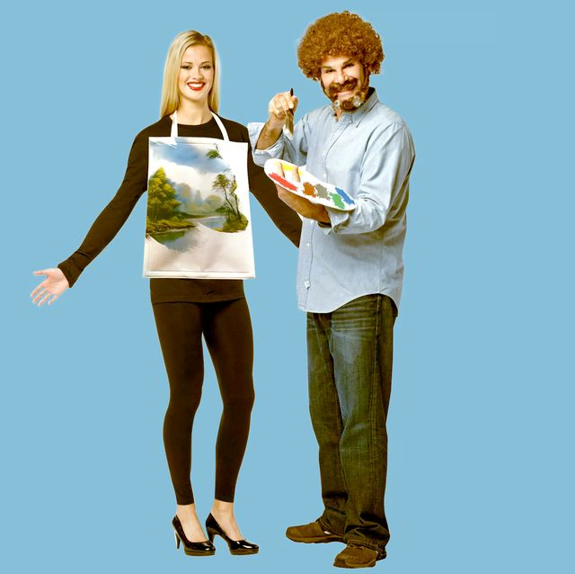 bob ross oil painting canvas costume