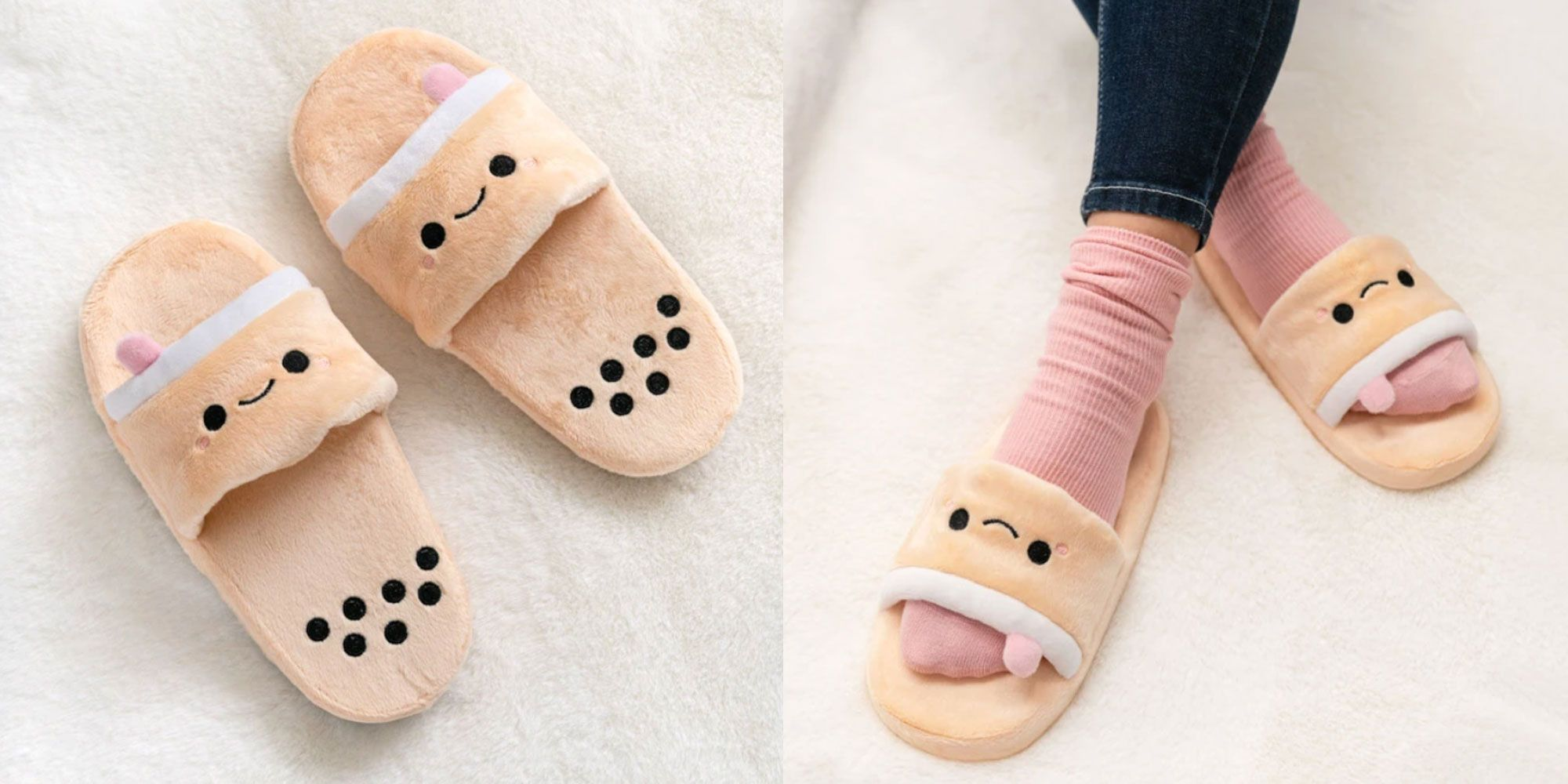 These Slippers Look Just Like A Cup Of Bubble Tea
