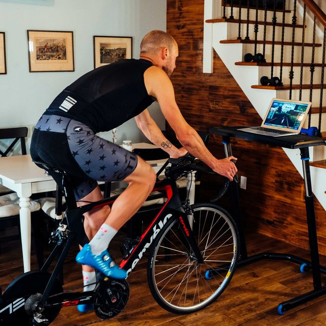 bobby lea on a trainer at home