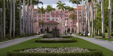 Estate, Building, Mansion, Tree, Palm tree, Palace, Botany, Architecture, Grass, Garden,