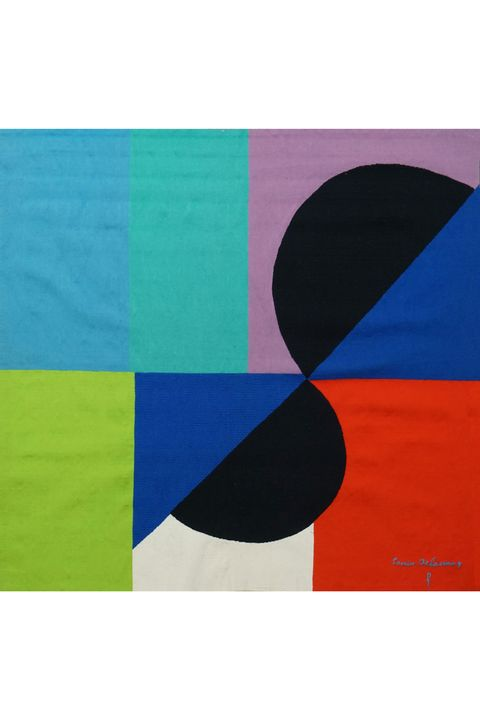 Nocturne Matinale (c. 1970) by Sonia Delaunay. Courtesy of Galerie Boccara