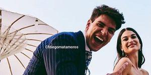 Diego Matamoros y Estela Grande el día de su boda