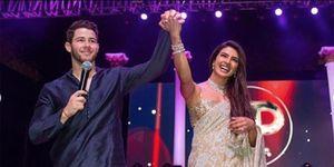 Nick Jonas y Priyanka Chopra el día de su boda