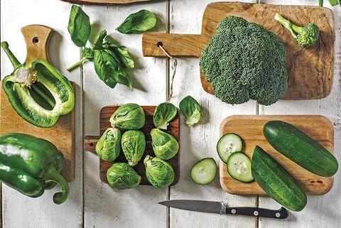 verduras y hortalizas verdes variedades