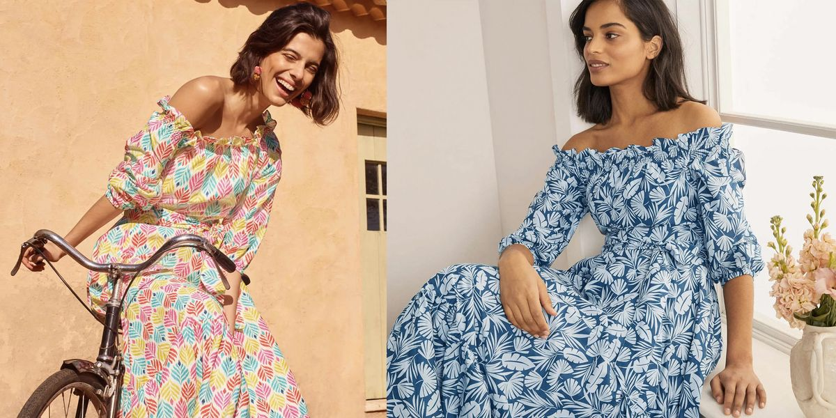 Boden's new off-the-shoulder midi dress is getting so much love on Instagram