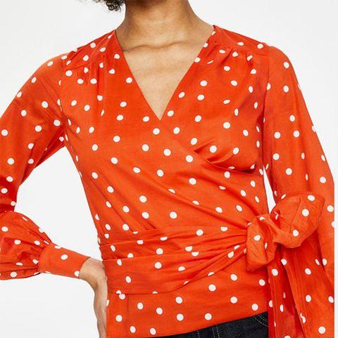 Boden polka dot blouse