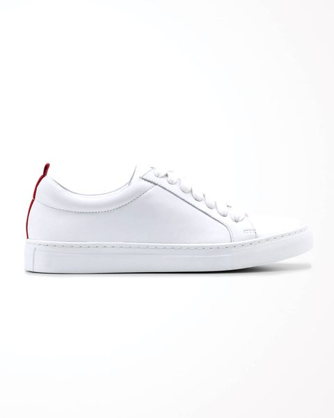 boden classic white leather trainers