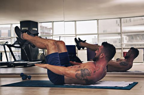 Body Building Workout in gym.