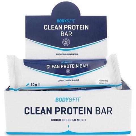 body  fit clean protein bars proteïne repen cookie dough amandel eiwitrepen sporten hardlopen