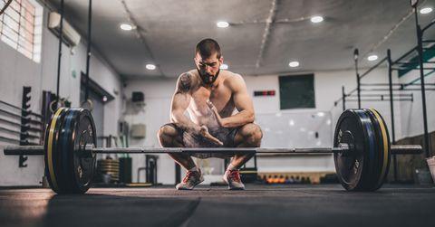Bodybuilder at the gym