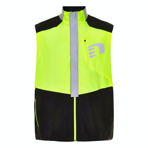 vest heren bodywarmer neon geel hardloopbodywarmer hardloopkleding
