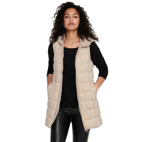 only, lang gewatteerde jas